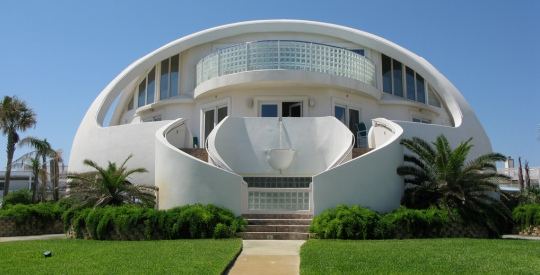 The Dome Of A Home on the Florida coast is a great example of a Monolithic Dome Structure.
