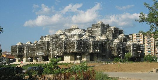 The striking and unique Kosovo National Library was built in 1982.