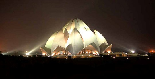 The stunning and beautiful Lotus Temple is one of the most visited buildings in the world.