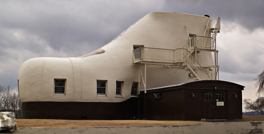 Built in 1948 the Shoe House is a wonderful example of mimetic architecture.
